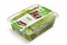 boxed lettuce leaves