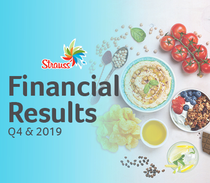 Strauss Group announces 2019 results with NIS 8.5 billion in revenue, 2.6% organic growth excluding foreign currency effects and a signifi-cant improvement in the Group's profits