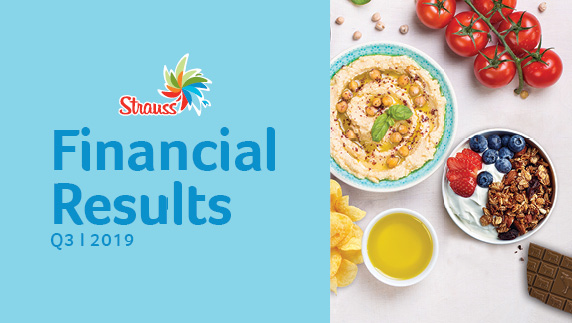 Strauss Group announces results for the third quarter of 2019: Revenue growth driven by volume growth, and continued improvement in profit margins