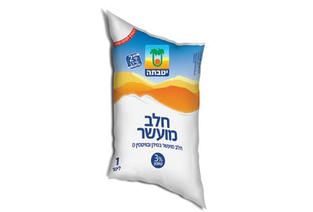 Enriched milk bag 3% 1 liter