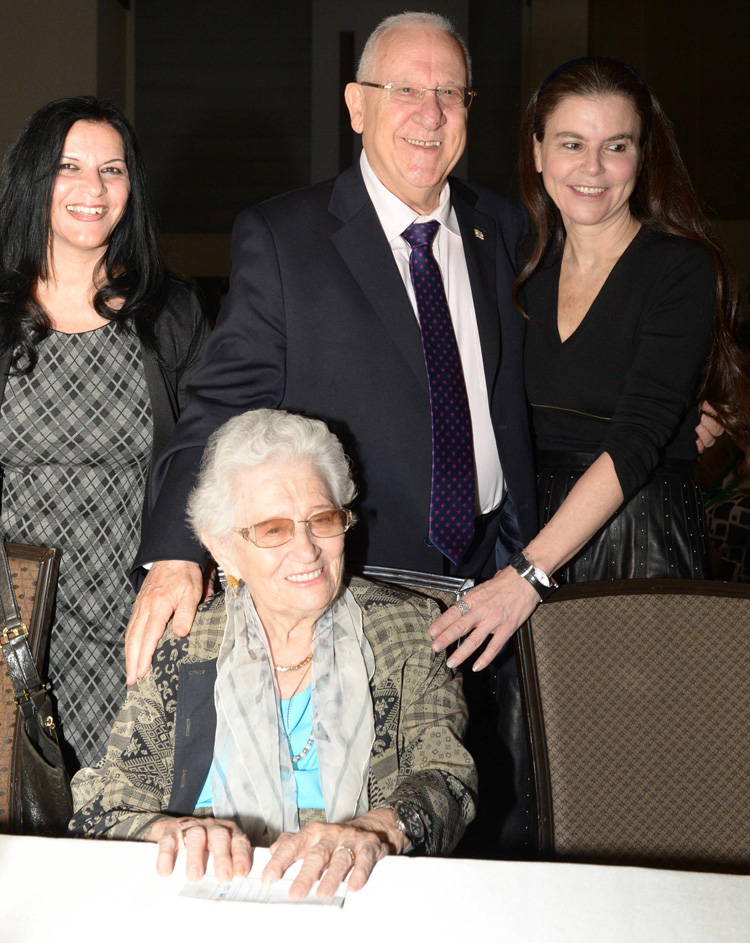 Jasmine Conference 2014- Ms. Ofra Strauss with the Israeli president and Ms. Ruth Dayan