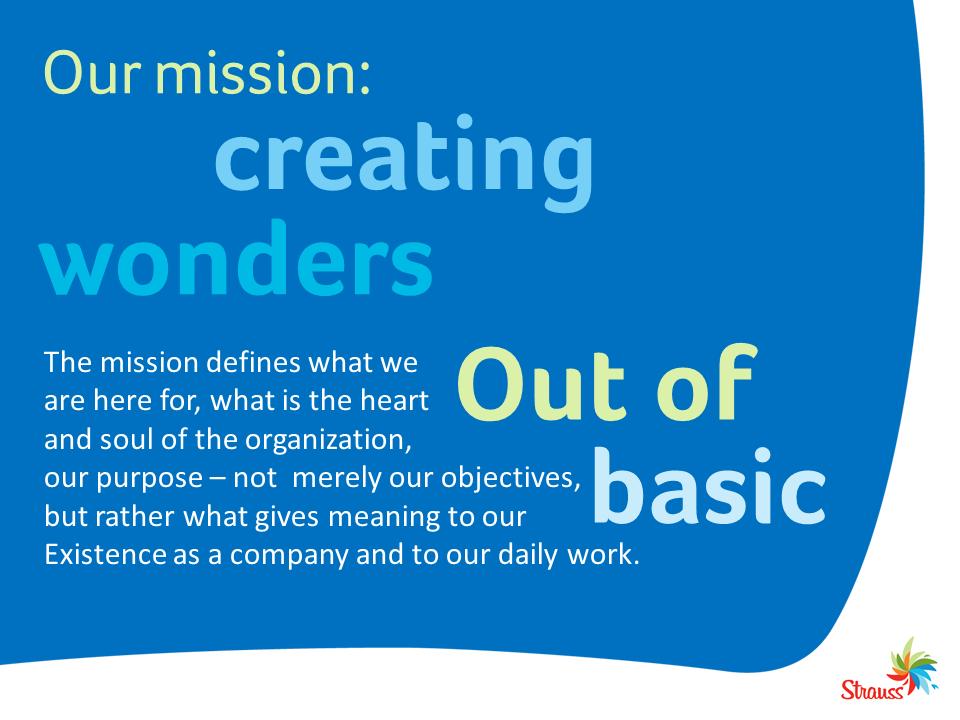 Strauss's mission: Creating Wonders of Basics