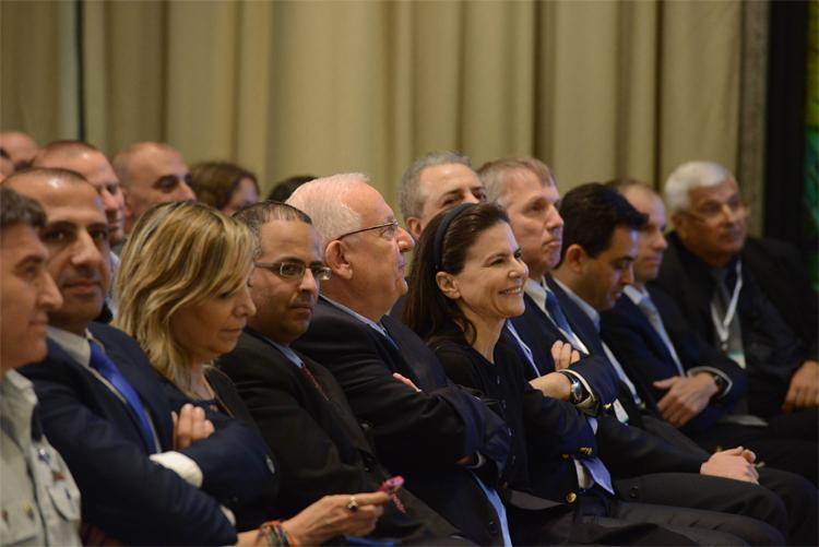 Ofran Strauss and the Israeli president Mr. Reuven (Ruvi) Rivlin